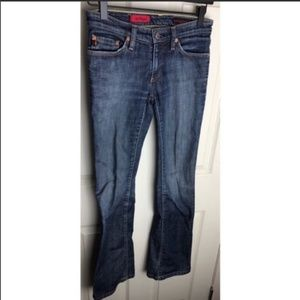 AG The Angel Mid-Rise Bootcut Jeans 25r